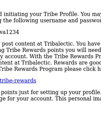 Tribe Profile and Account details for marysmith01234 at Tribalectic