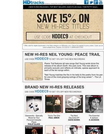 New Hi-Res Neil Young, Philip Glass & Paul Simon   Plus Dylan & Petty Sale Inside