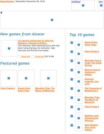 Alawar Games Newsletter