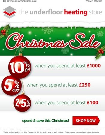 Don't miss our huge christmas savings!