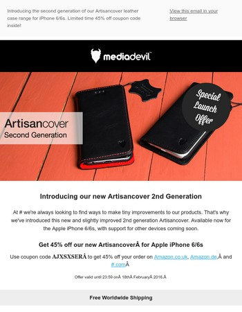 Introducing the 2nd Generation Artisancover for iPhone 6/6s