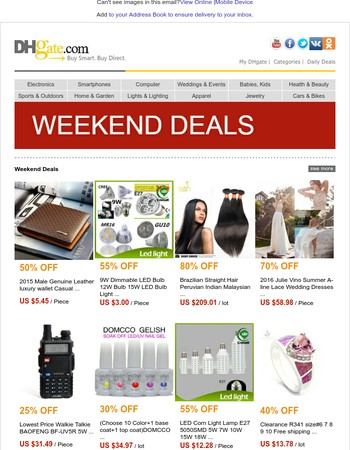 Don't miss our weekend deals! Up to 90% off hot products!