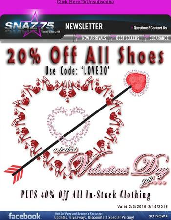 Huge Valentine's Day Sale