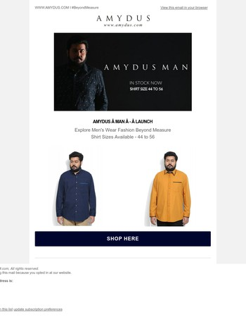Amydus Man - Launch! Explore Men's Fashion Beyond Measure!