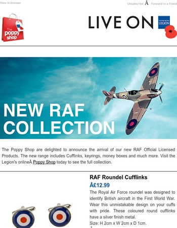 Discover the new RAF collection today