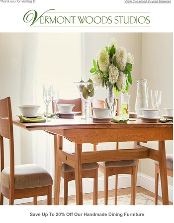 Save up to 20% Off During Our Spring Dining Furniture Sale