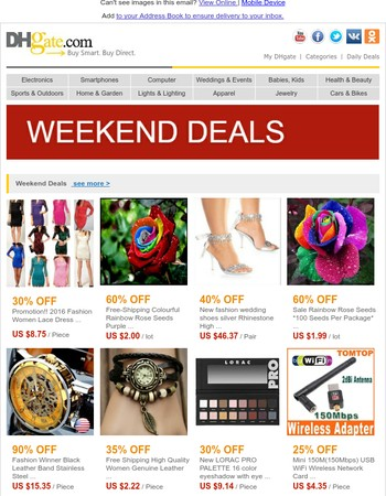 Weekend Deals! Specially Selected Products Just for You!