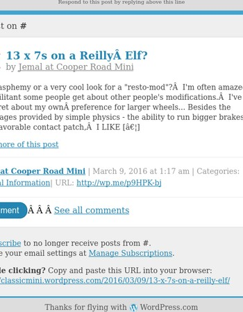 [New post] 13 x 7s on a Reilly Elf?