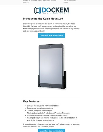 Koala Mount 2.0 just launched; Become an early backer