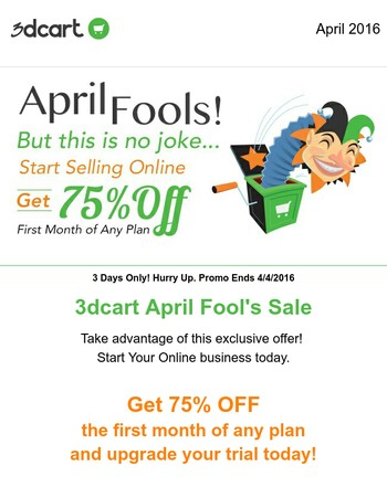 Aprils Fool's Day Sale, 3 days only | Get 75% Off