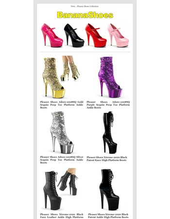 New Pleaser Platform Shoes & Boots Collection @ BananaShoes