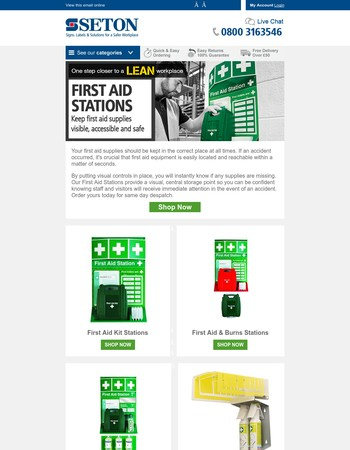 Reduce time spent looking for First Aid Supplies