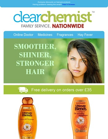Exclusive discounts on haircare products