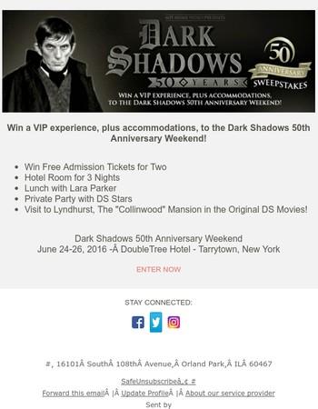 Dark Shadows 50th Anniversary Contest - Enter Now!