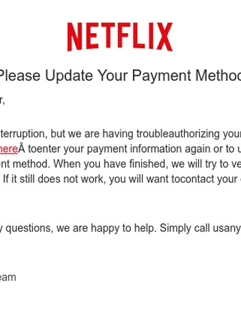 Problem with your Netflix Membership