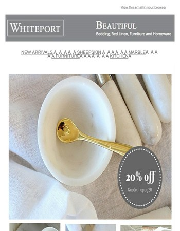 Marble - SAVE 20% on all marble items - Weekly Feature Product
