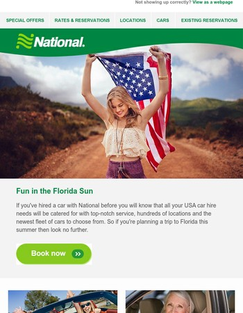 Save on car hire in the Sunshine State with National