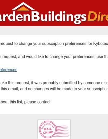 Kybotech Newsletter: Update Profile