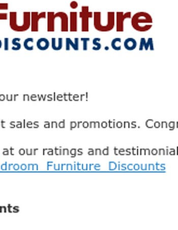 Thanks for Subscribing to Bedroom Furniture Discounts Newsletter