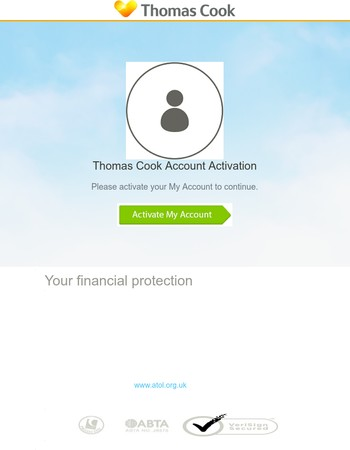 Activate your Thomas Cook Account