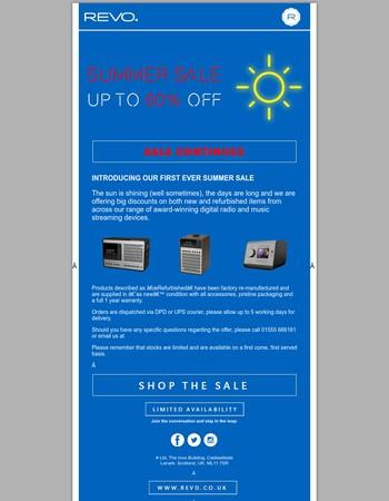 REVO Summer Sale Continues