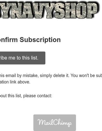 Regular Newsletter: Please Confirm Subscription
