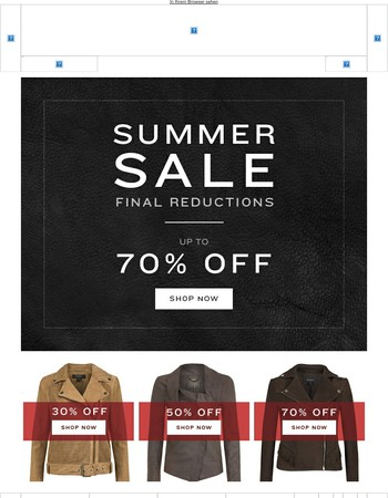 Final Reductions | Up to 70% Off