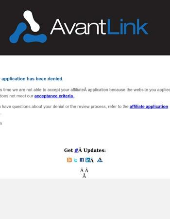 AvantLink.com Application
