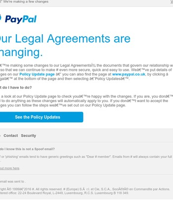 Your Legal Agreements with PayPal