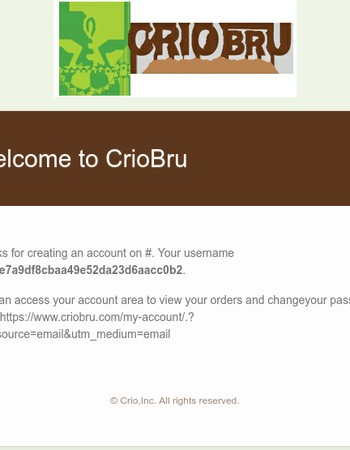 Your account on Crio Bru
