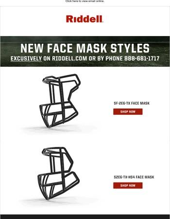 New Face Mask Styles for Riddell SpeedFlex and Riddell Speed helmets!