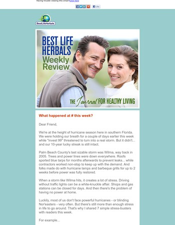 Your Weekly Review from Best Life Herbals