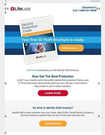 Your Free Identity Theft brochure is ready!