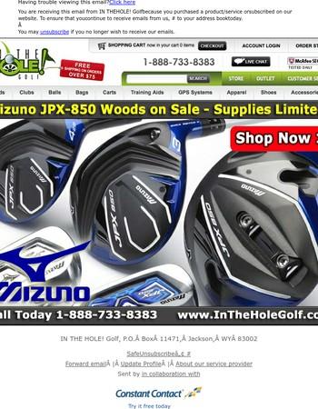 Mizuno JPX-850 Woods - On Sale