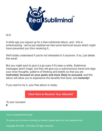 Reminder: Your Album is Ready to Download