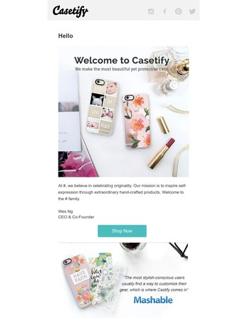 Hello from Casetify!