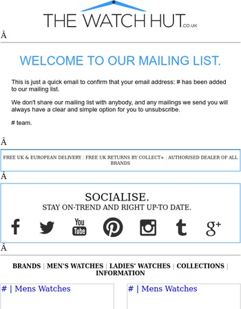Thank you for signing up with our newsletter..