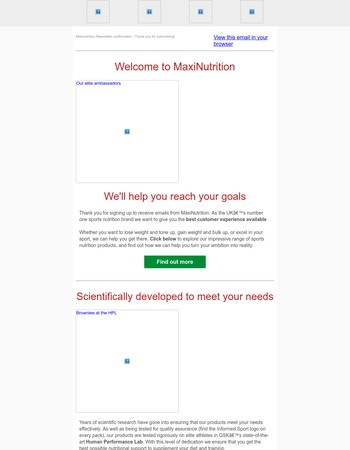 Maxi Newsletter Subscription