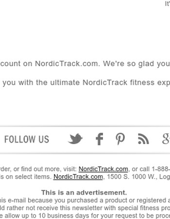 Your new NordicTrack account is active