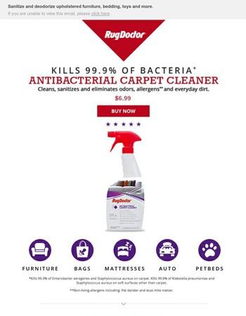 Introducing Rug Doctor's Antibacterial Carpet Cleaner.