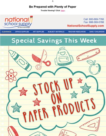 Stock Up on Paper Products