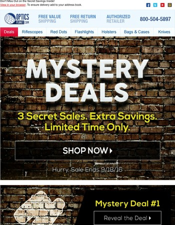 Mystery Deals: How Much Will You Save?