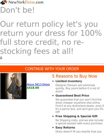 Nervous about buying a dress online?