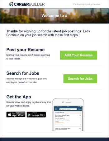 Welcome to CareerBuilder!