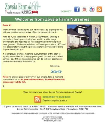 Welcome to Zoysia Farms Nursery!