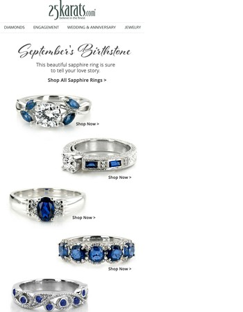 September's Birthstone : Sophisticated Sapphire