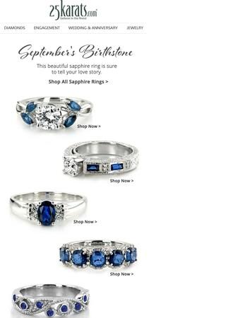 September's Birthstone : Sophisticated Sapphire