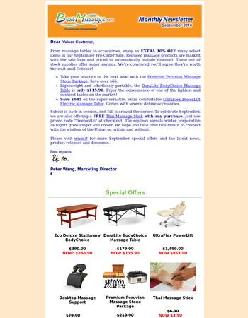 BestMassage.com Newsletter