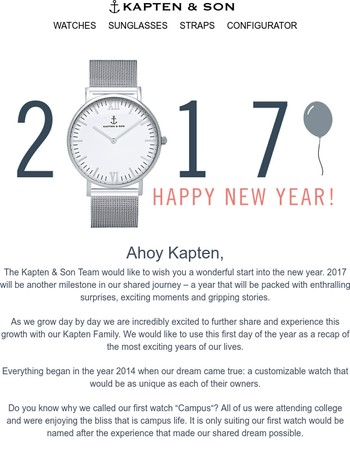 Happy New Year, Kapten