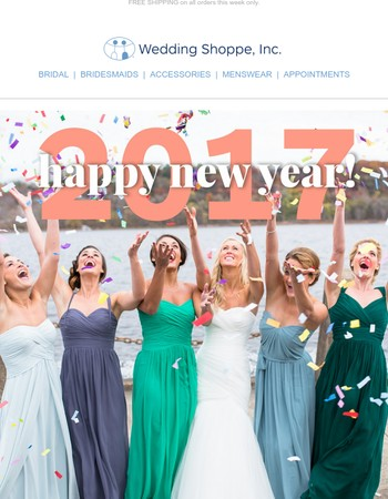 Happy New Year from the Wedding Shoppe!